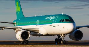 Aer Lingus made a profit of €59 million for the first half of 2017. Photograph: iStock