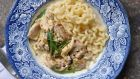 Chicken with white wine and tarragon