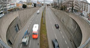 "Underpass in Stuttgart, Germany: The city's administrative court has ruled that no measures to improve air quality were as effective as outright bans on diesel vehicles, ""and that includes so-called retrofit solutions"". Photograph: Ronald Wittek/EPA"