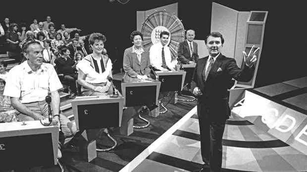 Terry Wogan in the early days of the National Lottery. Photograph: Mac Innes Photography