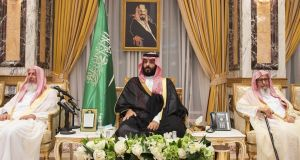 Saudi  crown prince Mohammed bin Salman: under house arrest in his mansion in Jeddah and banned from travelling abroad. Photograph: Saudi Press Agency via The New York Times