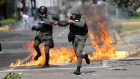 Eyewitness video shows Venezuelan police firing tear gas at protesters