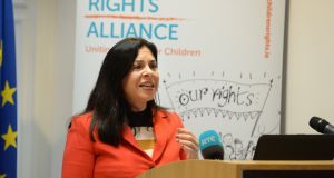Tanya Ward, chief executive of Children's Rights Alliance: criticised proposed cuts. Photograph: Cyril Byrne
