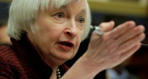 Federal Reserve chair Janet Yellen. The US central bank left rates unchanged on Wednesday. Photograph: Yuri Gripas/Reuters
