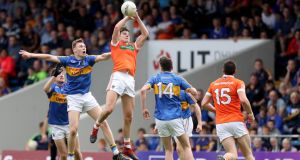 Armagh midfielder Niall Grimley has been one of the finds of the championship. Photograph: Tommy Dickson/Inpho