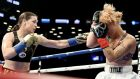 Katie Taylor stopped Jasmine Clarkson in the third round in New York. Photograph: Getty