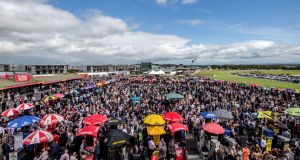 The crowd at the Galway Races in 2015. Photograph: James Crombie/Inpho