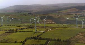 Irish wind farms have the capacity to generate 3,736 megawatts of electricity, the equivalent of nine average-sized power plants. Photograph: David Sleator