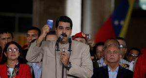 "Venezuela's president  Nicolás Maduro: told state television the assembly marks ""a new era of combat"". Photograph: Marco Bello/Reuters"