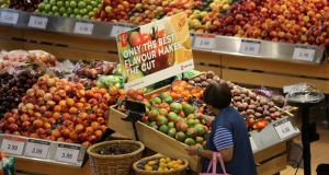 Bord Bia's Periscope report shows 52 per cent of shoppers say price is the first thing they look at, compared with 64 per cent in 2013 and 60 per cent two years earlier. Photograph: Chris Helgren/Reuters