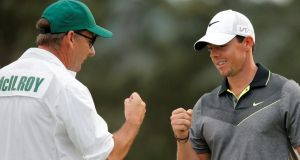 Rory McIlroy has reoportedly parted company with long-term caddie JP Fitzgerald. Photograph: Brian Snyder/Reuters