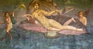 Goddess of love Venus as she appears in a fresco foun in Pompeii