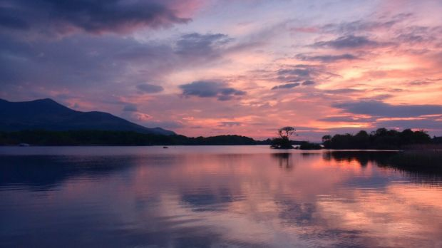 Sunset at Killarney National Park, Co Kerry.