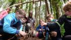 Andrew 'Mouse' Fleming with Children enjoying 'Wild Kids' Day' organised by the children's nature charity Owls at Turvey Nature Reserve, Donabate, Co Dublin. Photograph: Alan Betson