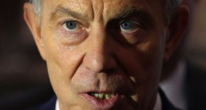File photograph of former British prime minister Tony Blair. File photograph: Niall Carson/PA Wire