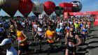 Collaborating in the long run: A general view of the start during the Virgin London Marathon in London.  Photograph: Anthony Devlin/PA Wire