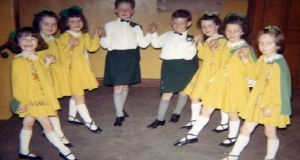 Máire (left) at the Clerkin School of Irish Dancing in London in 1965.