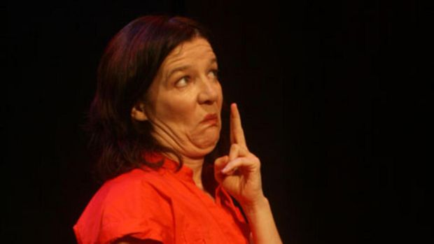 Máire Clerkin performing her play The Bad Arm, 'an antidote to Riverdance and its ilk'.