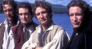 Brothers Joe, Stephen, Mark and Paul McGann in the BBC Famine drama, The Hanging Gale