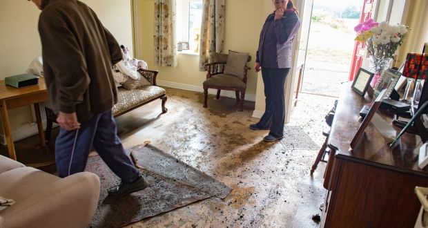 Peter Murtagh and his daughter Sarah in Peteru0027s front room which was flooded after a water & Water being restored to thousands in Navan after pipe repaired
