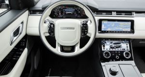 A 12.3-inch TFT screen is an option for the Velar's instrument panel.