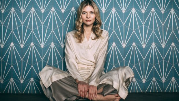 Lounge in style with a robe (€180) and Palazzo pants (€120) from The Ethical Silk Company.