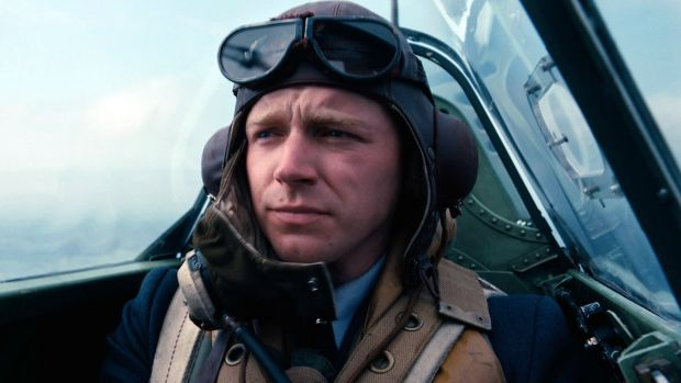 Jack Lowden in 'Dunkirk' in which he plays a Scottish Spitfire pilot. Photograph: Warner Bros