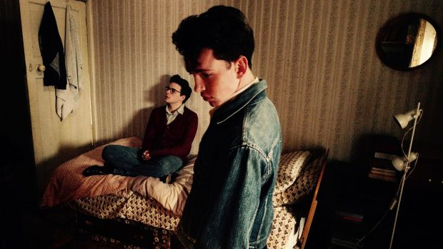 Jack Lowden and Laurie Kynaston in 'England Is Mine'. Lowden plays a young Morrissey in the film