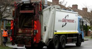 Refuse collectors attacked: the Greyhound crew were emptying bins in Finglas. File photograph: David Sleator
