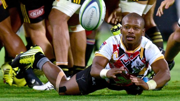 Southern Kings' Ntando Kebe in action against Wellington Hurricanesw. Photograph: Marty Melville/Photosport/Inpho