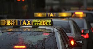 Government departments have spent just under €1.725m on taxis, car and limousine hire in the past two years. Photograph: Brenda Fitzsimons