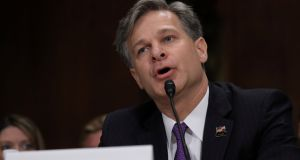The US Senate has overwhelmingly confirmed Christopher Wray as the next FBI director. Photograph: REUTERS/Carlos Barria