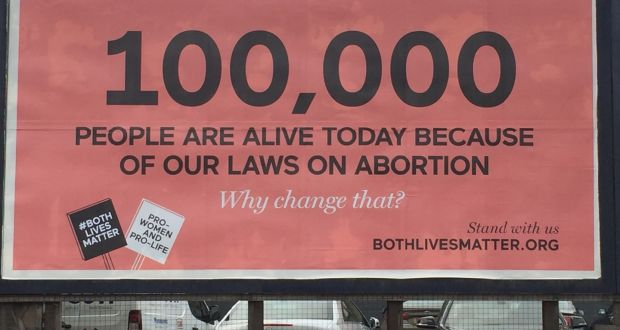 a billboard put up by prolife lobby group both lives matter photograph