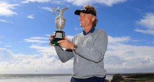 Bernhard Langer with the senior Claret Jug. Photograph: Phil Inglis/Getty