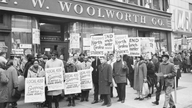 The Greensboro sit-in in 1960, when four black men took their seats at a whites-only lunch counter in Woolworths, was one of the most important of the US civil rights movement.
