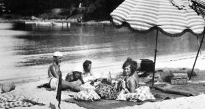 "Gerald and Sara Murphy and friends. The pair are credited with inventing the word ""sunbathing"", inviting a flock of exotic friends to join them for picnics on the beach at La Garoupe"