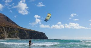 Kite surfer Francois Colussi takes on the Atlantic.
