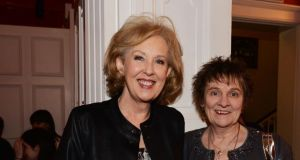 Authors Mary O'Donnell and Evelyn Conlon at the Writers Museum for Nollaig Na Mban last year. Photograph: Alan Betson