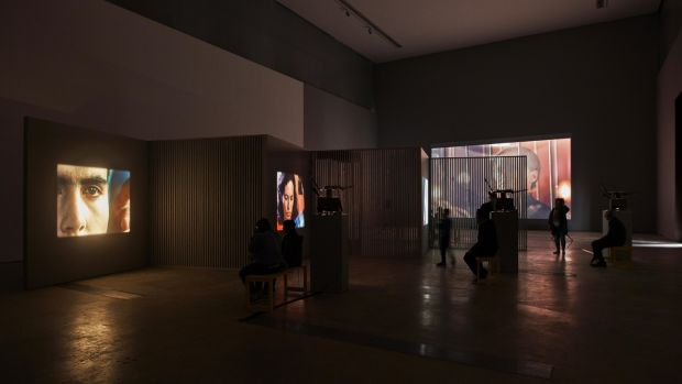 Subjects and Objects by Daria Martin at Visual Carlow: It offers voyeurism and performance, gratification and denial, public spectacle and its effect on mental health. Photograph: Ros Kavanagh