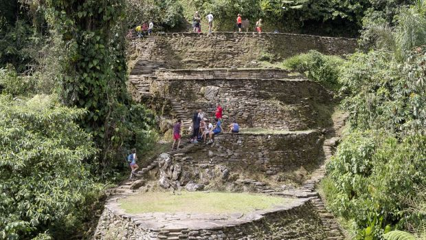 The Ciudad Perdida is a 13th-14th century pre-Colombian city, discovered in 1975 by tomb raiders. Photograph: Thierry Tronnel/Corbis via Getty Images