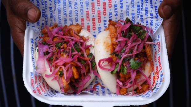 London's street food scene has a truly international flavour. Photograph: Niamh Shields