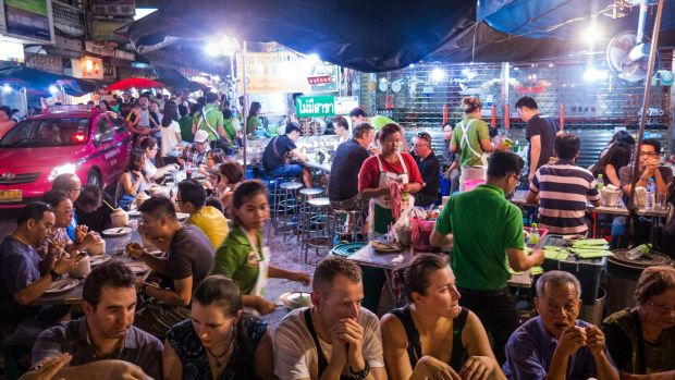 Eating street food is a Bangkok experience that is under threat, due to a government crackdown on vendors. Photograph: Getty Images