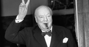 Winston Churchill: You'll still see his face on the fiver – if you're lucky enough to have a fiver in your pocket. Photograph: PA Wire