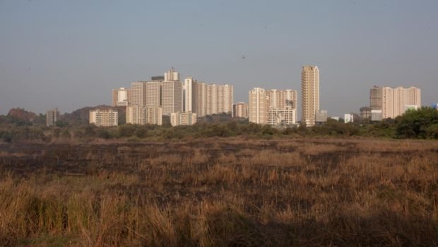 Buildings that have been erected over the last couple of decades in Thane, located just outside Mumbai, India. Photograph: Thomson Reuters Foundation