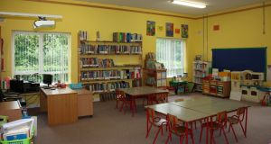 Inside the school in Kiltyclogher, Co Leitrim.