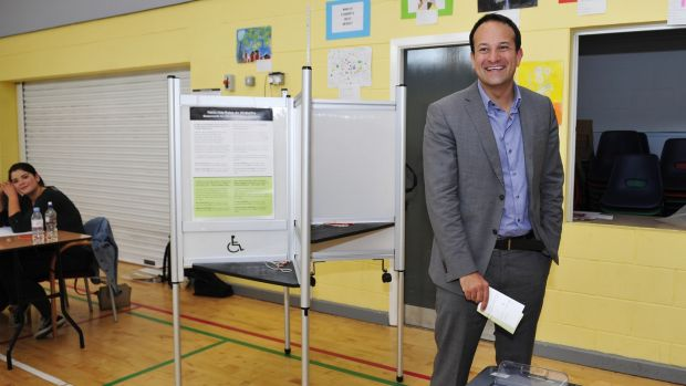 Taoiseach Leo Varadkar: in his Dublin West constituency. Photograph: Aidan Crawley
