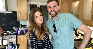 Irish  film and TV  director Lorcan Fox with Made in Chelsea cast member Binky Felstead