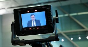 Mario Draghi: his announcement in 2012 that the European Central Bank was ready to do whatever it took to preserve the euro was a crucial change of stance. Photograph: Krisztian Bocsi/Bloomberg