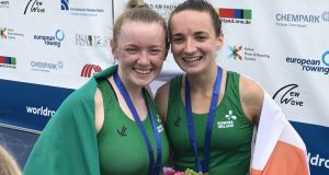 Aoife Casey and Margaret Cremen are in action at the World Junior Championships in Trakai in Lithuania.