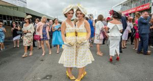 Twins Davinia and Dawn Knight (32) from Co Laois. Photograph: Brenda Fitzsimons